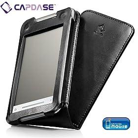 CAPDASE docomo T-01A / SoftBank X02T / Toshiba TG01 Leather Case Flip Top, Black たて開き レザーケース ブラック WCTBTG01-6001