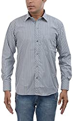 Major Sab Men's Casual Shirt MS944L12_Grey and Purple_XXL