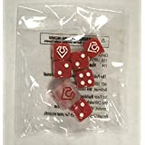 Pokemon Primal Clash Groudon Dice, Sealed Set Of 7 (Red And White) From The Primal Clash Elite Trainer Box
