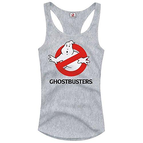 Ghost busters Canotta da donna - I fantasmini cacciatore con Logo classico racer back felpe con cappuccio grigio grigio XL