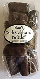 See\'s Candies Dark California Brittle 8 Oz