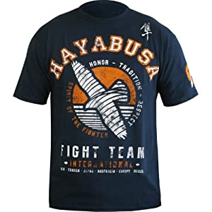 Hayabusa Official MMA International Fight Team T-Shirt/Tee - Blue/White / X-Large