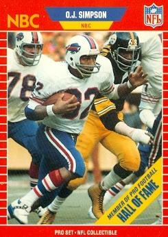O.J. Simpson Football Card (Buffalo Bills) 1989 Pro Set #29 (Oj Simpson Football Card compare prices)