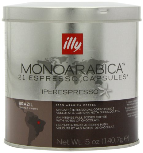 Illy Monoarabica Brazil Capsules (Pack of 2, Total 42 Capsules)