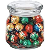 Christmas Balls in Pritchey Patio Glass Jar 8oz Trade Show Giveaway