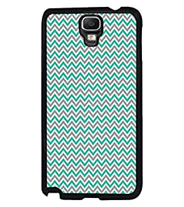 Fuson Premium Zig Zag Pattern Metal Printed with Hard Plastic Back Case Cover for Samsung Galaxy Note 3 Neo N7505