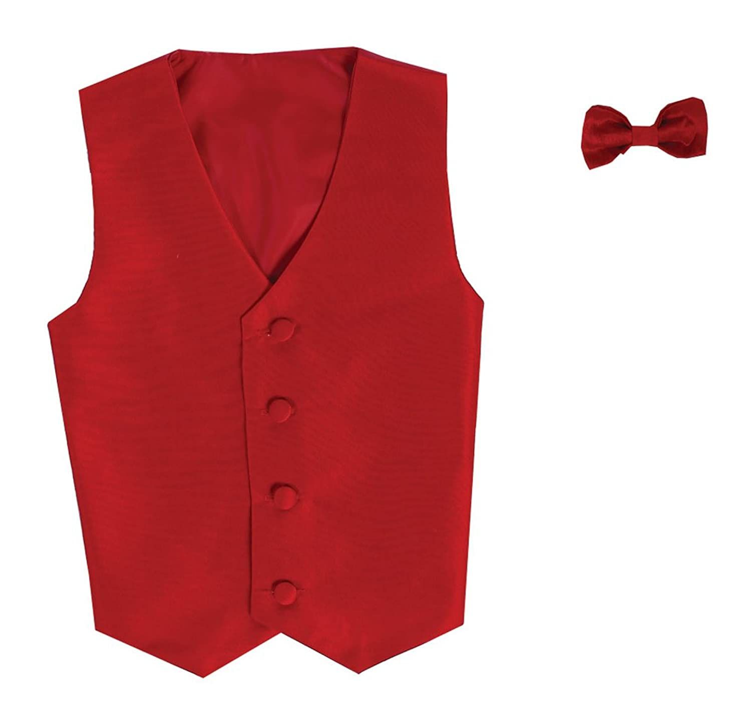 Vest and Clip On Bowtie set - Multiple Colors - Baby Infant Toddler Boys Tween Sizes free shipping microwave oven parts glass plate support oven bracket roller plastic ring glass microwave tray bracket