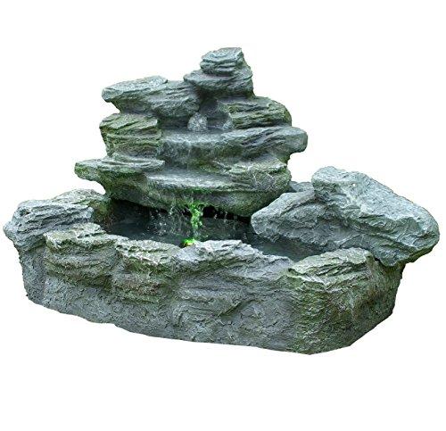 Brunnen mysteriöser Springbrunnen mit Beleuchtung*
