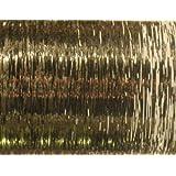 20 Hair Tinsel 100 Strands - Shiny White Gold