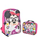 Disney Girls 2-6X Minnie Mouse Backpack with Lunch Set, Pink, One Size
