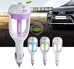 Car Aroma Humidifier , COSCOD Car Air Diffuser Aromatherapy Essential Oil Freshen & Revitalize Your Driving Experience With Essential Oils & A Mini Portable Travel 12V DC Diffuser (Purple)