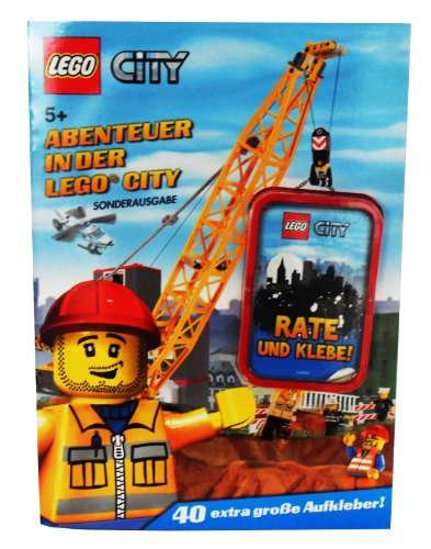 LEGO City Rate und Klebe Abenteuer in der City Sonderausgabe mit 40 extra gro&#223;en Aufklebern