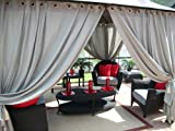 Outdoor Gazebo Patio Drapes.. Cool Gray 95