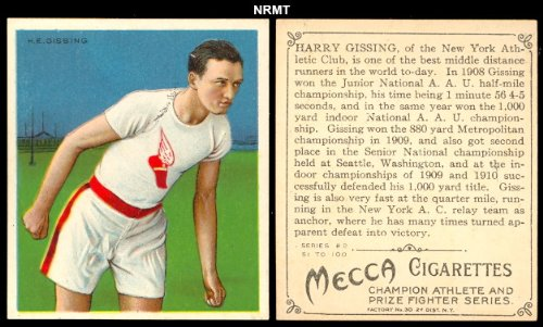 1910 T218 Champion Athletes (Miscellaneous) Card# 17 h.e. gissing VGX Condition