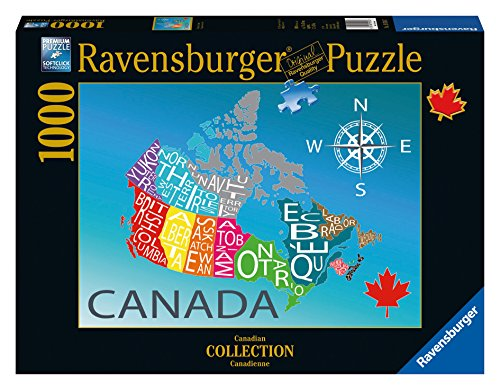 Ravensburger Colourful Canada Canadian Collection Canadienne Puzzle (1000-Piece) (Ravensburger Canada compare prices)