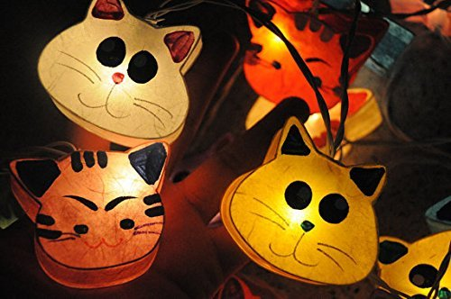 Handmade Mix Cat Color Zoo Animal Plant Paper Lantern String Light Kid Bedroom Light Display Garland Colorful Copter Shop (Taotronics Car Lights Led compare prices)