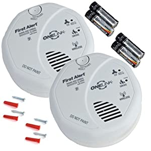 buy onelink wireless talking battery operated smoke carbon monoxide alarm sco501b2 2pk. Black Bedroom Furniture Sets. Home Design Ideas
