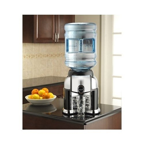 Water Dispenser Cooler. Stunning Table Top Black & Chrome Design. Requires No Electricity. Easily Portable For Outdoor Accessory For Tailgating,Picnic,Kids Games,& Bbq'S.