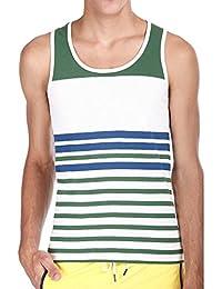 Zobello Men's Jacquard Yarn Dye Stripe Knit Tank - B00ULAYSMU