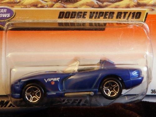 Matchbox By Matel Wheels - Car Shows - Dodge Viper Rt/10 - Royal Blue W/ White Stripes - 1:59 Scale - Series 8 - #37