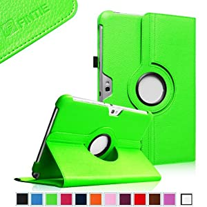 Fintie 360 Degrees Rotating Stand Case Cover for Samsung Galaxy Note 10.1 inch Tablet N8000 N8010 N8013 - Green