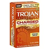 Siam Circus Trojan Lubricated Latex Condoms Intensified Charged Warming Lubricant 10 Pack