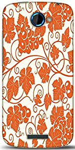 Snoogg Grape Leaves 2850 Designer Protective Back Case Cover For HTC One S