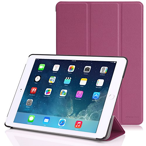 Apple iPad Air 2 Case - MoKo Ultra Slim Lightweight Smart-shell Stand Cover Case for Apple iPad Air 2 (iPad 6) 9.7 Inch iOS 8 Tablet, PURPLE (with Smart Cover Auto Sleep / wake)