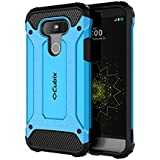 Cubix Impact Hybrid Armor Defender Case For LG G5 (Blue)
