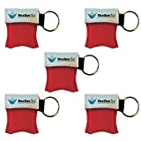 ResQue1st CPR Mask Key Chain Kit (5-pack) - One-way Valve and Face Mask
