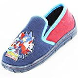 Kids Boys Sonic The Hedgehog Comic Cartoon Character Casual Slipper Shoe 63884