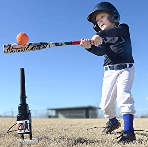 Hit Zone Jr - Tee Ball Baseball Softball Air Powered Batting Tee - Great New Training... by Hit Zone Jr Batting Tee