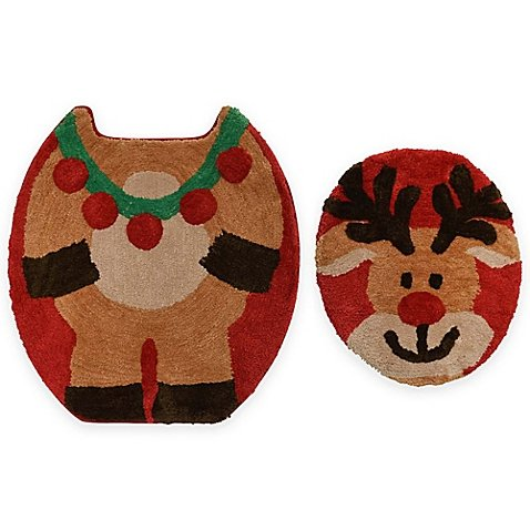 2-Piece Christmas Reindeer Bath Set, 100% polyester | 20