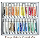 Daveliou Oil Paint Set - 24 Non-Toxic Oil Paints 12ml - Vivid Colors