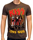 Coole-Fun-T-Shirts Kiss T-Shirt Love Gun grey Size:M