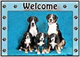Greater Swiss Mountain Dog Welcome Sign