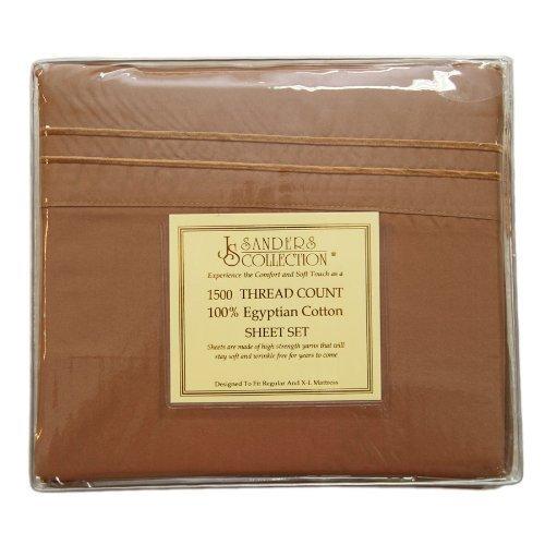 Js Sanders 1500 Series Sheet Set, Full Size, Antique Gold front-352100