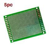 massmall 5pcs 6x8cm Double-Side Prototype PCB Universal Printed Circuit Board