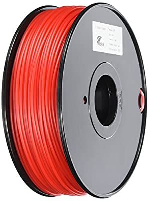 3D Prima TW-HIPS300RE HIPS Filament, 3 mm, 1 kg Spool, Red