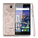 Cubot P11 – Smartphone Libre Andriod 3G (Pantalla 5.0″ HD, MT6580 Quad Core 1.3GHz, 1G Ram 8G Rom, HotKnot, Dual Sim), Dorado