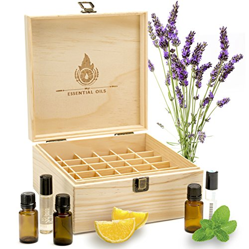 Essential Oil Box Organizer - Best Solution For Roller Ball Bottles. Holds 36 Oils (5ml 15ml & 10ml Tall Rollers). Natural Pine, Wooden Storage Case. Display doTERRA Young Living Plant Therapy & More (Glass Car Case Display compare prices)