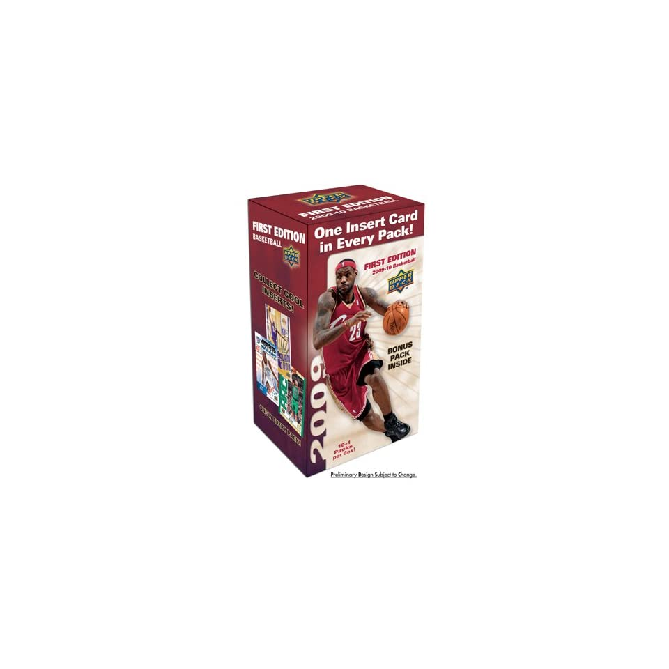 2009 10 Upper Deck First Edition NBA Basketball 11 Pack Blaster Box