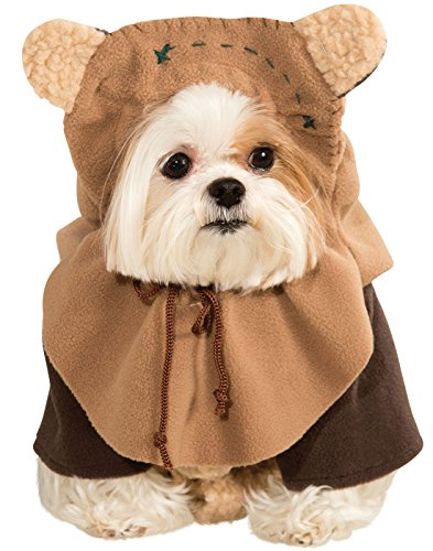 Dog Star Wars Ewok Pet Dress Up Funny Halloween Costume (S) (Animal Planet Raptor Dog Costume)