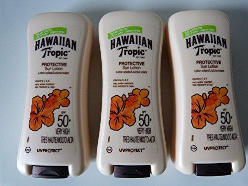 3-x-hawaiian-tropic-protective-sun-lotion-spf50-200ml-new