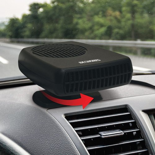 ideaworks portable auto heater and defroster handy winter car window ebay. Black Bedroom Furniture Sets. Home Design Ideas