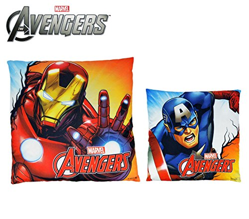 MV92345 Cuscino decorativo quadrato 40x40 cm IRON MAN e CAPITAN AMERICA marvel. MEDIA WAVE store ®
