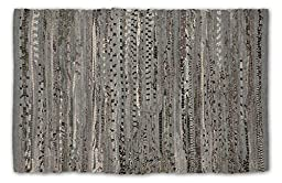 DII Home Essentials Rag Rug for Kitchen, Bathroom, Entry Way, Laundry Room and Bedroom, 4 x 6-Feet, Gray