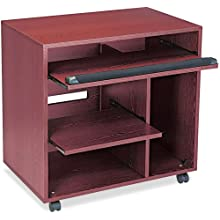 Safco 1901MH Ready-to-Use PC Workstation, 31-3/4w x 19-3/4d x 31-3/8h, Mahogany Laminate Top
