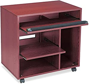 Safco Products Ready-to-Use Computer Workstation, Mahogany, 1901MH