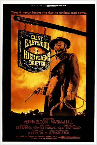 High-Plains-Drifter-Movie-POSTER-Clint-Eastwood-WESTERN-Rugged-24X36-PRIZED-reproduction-not-an-original